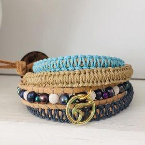 Vegan wave wrap bracelet